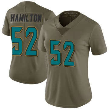 Women's Jacksonville Jaguars Davon Hamilton Green Limited 2017 Salute to Service Jersey By Nike