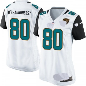 Women's Jacksonville Jaguars James O'Shaughnessy White Game Jersey By Nike