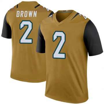 Youth Jacksonville Jaguars Jonathan Brown Gold Legend Color Rush Bold Jersey By Nike