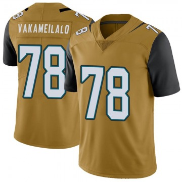 Youth Jacksonville Jaguars Kalani Vakameilalo Gold Limited Color Rush Vapor Untouchable Jersey By Nike