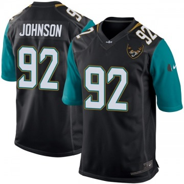 Youth Jacksonville Jaguars Lyndon Johnson Black Game Alternate Jersey By Nike