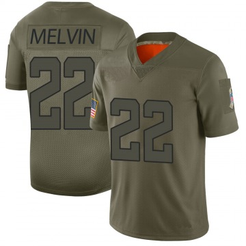 Youth Jacksonville Jaguars Rashaan Melvin Camo Limited 2019 Salute to Service Jersey By Nike