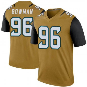 Youth Jacksonville Jaguars Shane Bowman Gold Legend Color Rush Bold Jersey By Nike