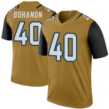 Youth Jacksonville Jaguars Tommy Bohanon Gold Legend Color Rush Bold Jersey By Nike